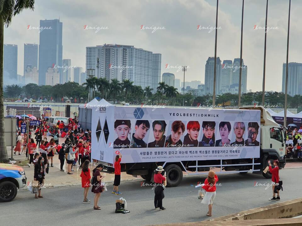 quảng cáo roadshow chào mừng EXO-SC