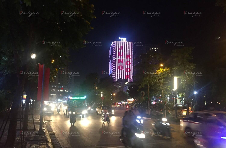 quảng cáo led building chúc mừng sinh nhật Jungkook BTS