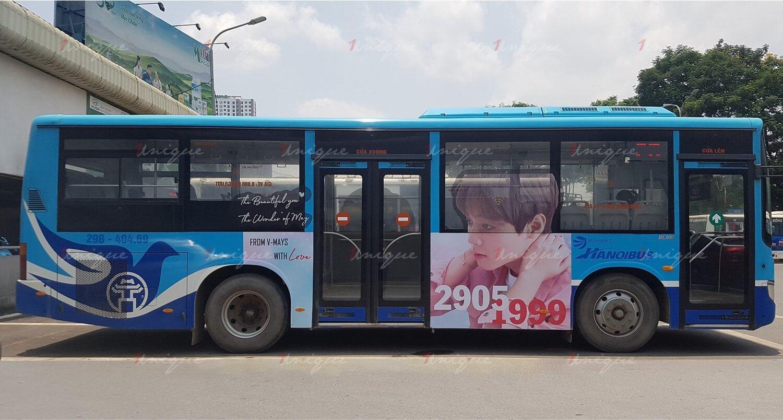 quảng cáo xe buýt chúc mừng sinh nhật ji hoon