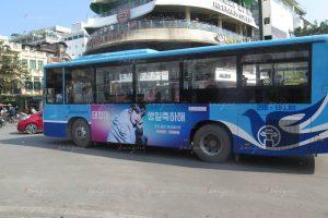 Chiến dịch quảng cáo trên xe bus chúc mừng sinh nhật Kim Taehyung BTS