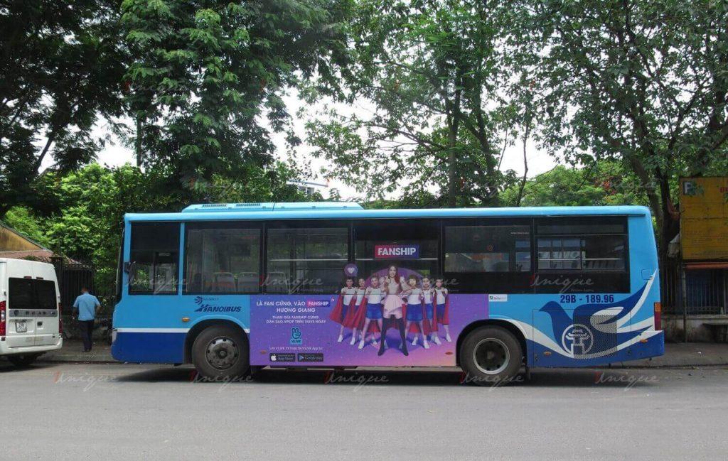 Vlive Fanship quảng cáo trên xe buýt cực sáng tạo và ấn tượng