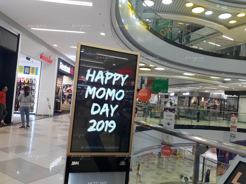 quảng cáo LCD chúc mừng sinh nhật momo