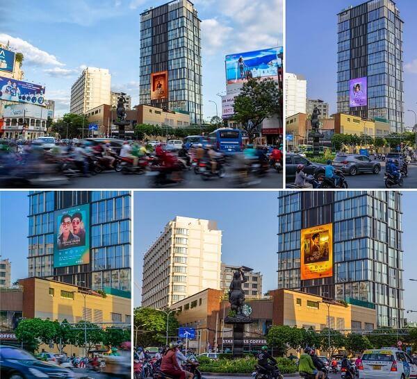 Yin Yang Media quảng cáo màn hình Led tôn vinh nghệ sĩ Việt