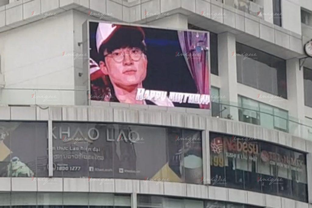 quảng cáo màn hình led chào đón faker đến việt nam