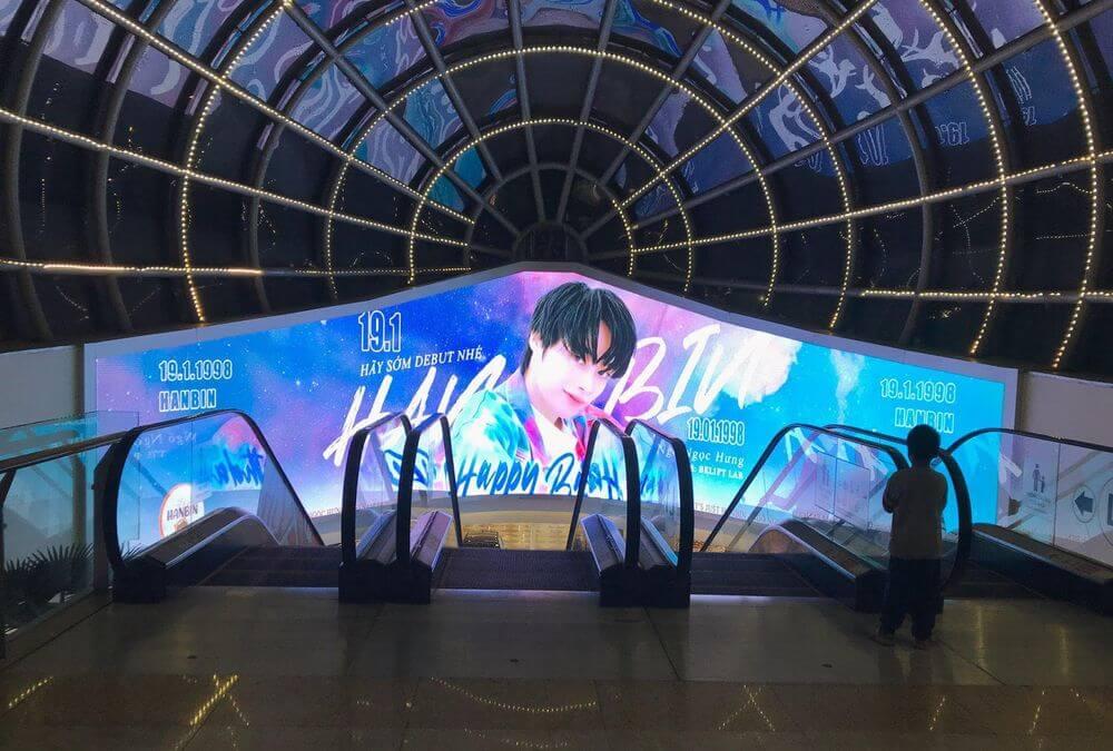 Project quảng cáo ngoài trời chúc mừng sinh nhật Hanbin Ngô Ngọc Hưng